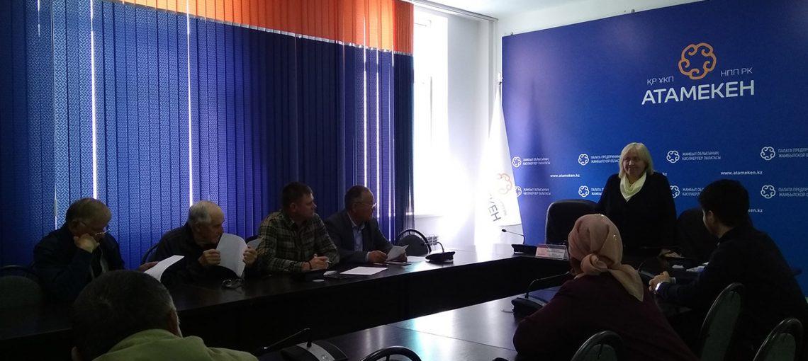 Встреча с фермерскими и крестьянскими хозяйствами Жамбылской области
